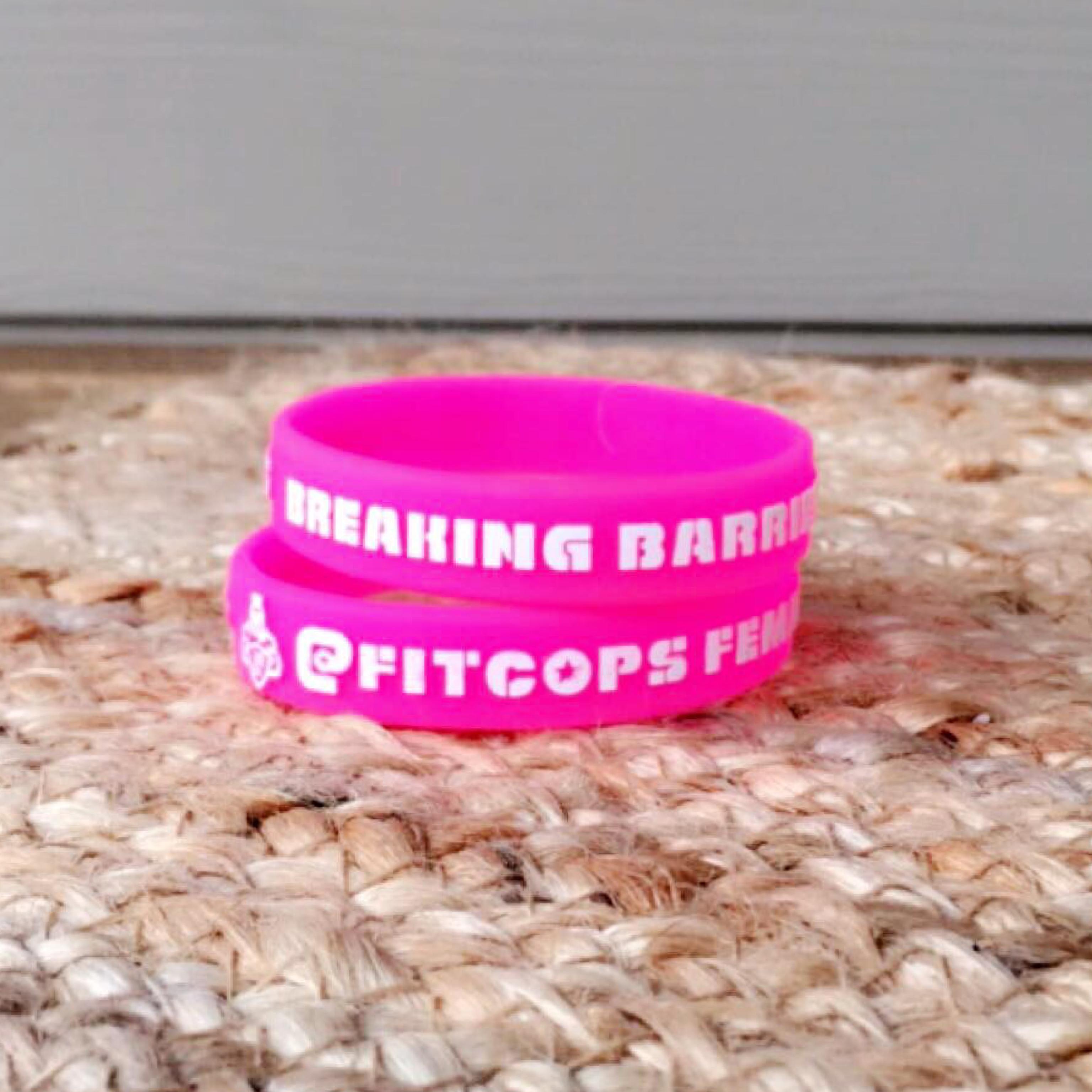 hot pink wrist bands new