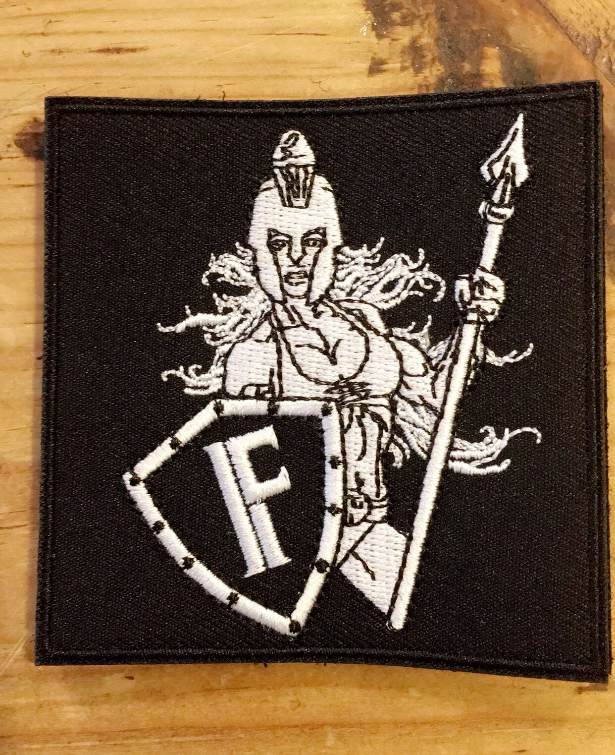 Female spartan moral patch