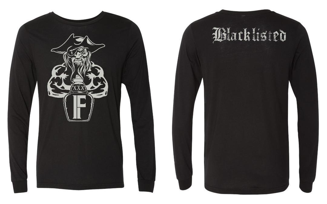 blacklisted long sleeve black tee